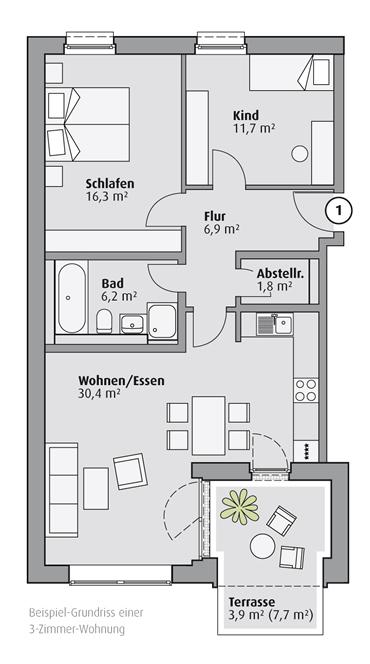 Fotos - Grundrisse 3 Zimmer Haus Neubau